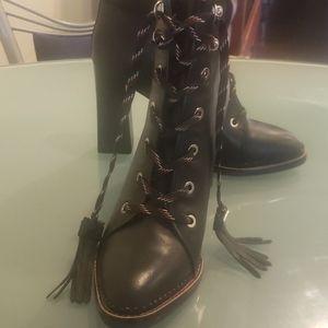 Sam Edelman Sondra Black Leather Boot